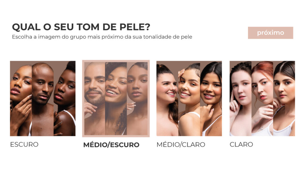 Descubra qual o tom ideal de base ruby rose através do QUIZ do site rubyrosemaquiagem.com.br