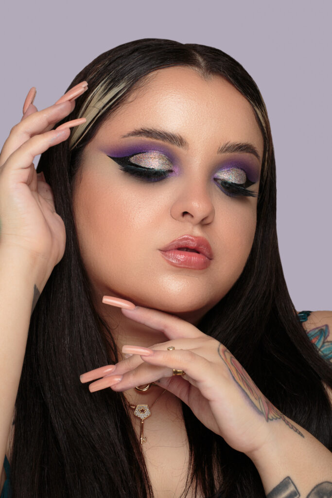 maquiagem colorida cores frias